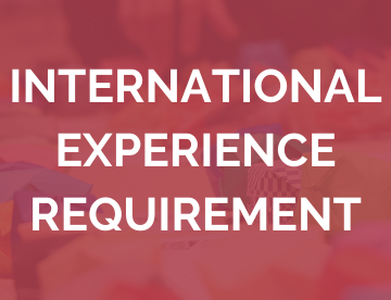 International Experience Requirement