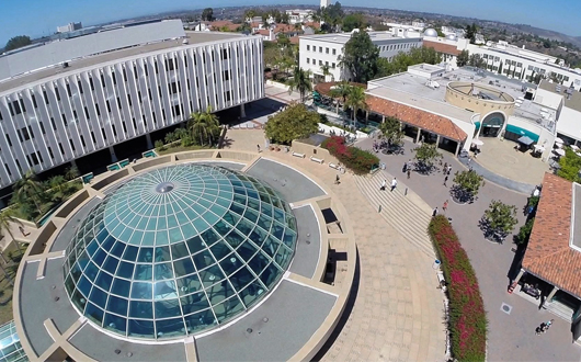 Love Library from aerial drone